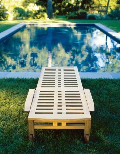 Kingsleybate -teak chaise - outdoor furniture