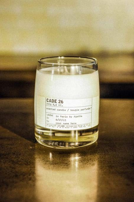 Aromatherapy Tip - The Le Labo scent Cade 26 was developed exclusively for the Gramercy Park Hotel in New York City and each is hand-poured one at a time in their Manhattan location. These long-burning candles have a masculine, bourbon scent making these a perfect choice for a home study full of mahogany and leather.